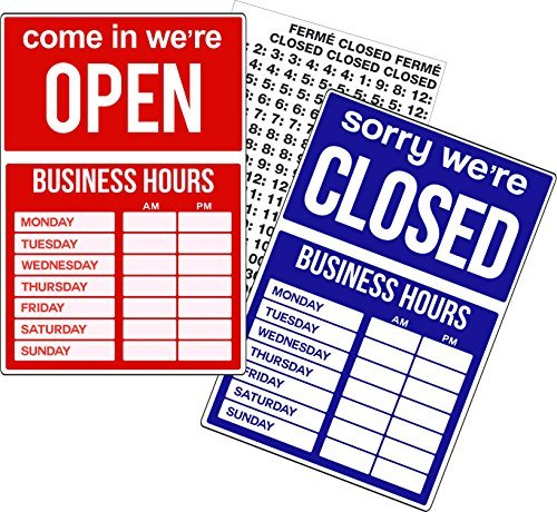 Open Closed Business Hours Schild Store Window New Retail Store Business Sign