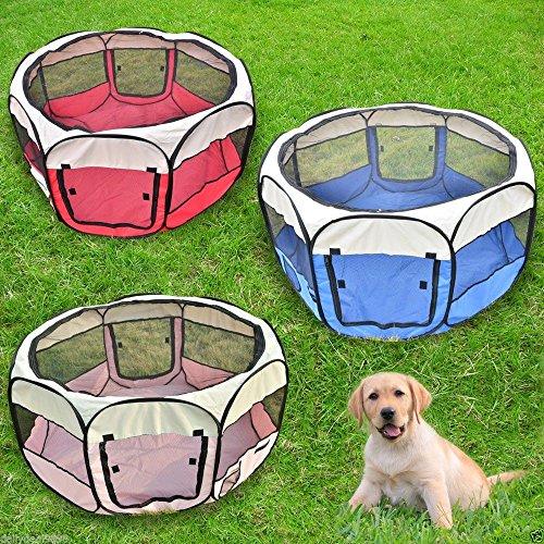 3-Colours-Fabric-Pet-Dog-Cat-Puppy-Playpen-Soft-Foldable-Rabbit-Guinea-Pig-Play-Pen-Small-L37-x-H37cm-x-D90cm