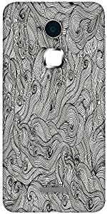 Snoogg seamless hand drawn waves texture Designer Protective Back Case Cover For Coolpad Note 3 (White, 16GB)