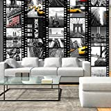 murando - PURO TAPETE - Realistische Tapete ohne Rapport und Versatz - Kein sich wiederholendes Muster - 10m Vlies Tapetenrolle - Wandtapete - modern design - Fototapete - City Stadt New York Film d-C-0001-j-b