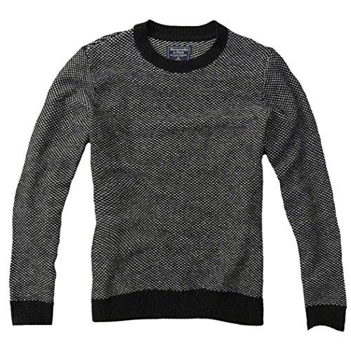 abercrombie-mens-wool-blend-birdseye-knit-sweater-jumper-pullover-size-m-black-624318623