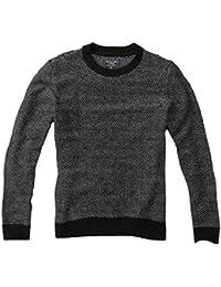 Abercrombie - Homme - Wool-Blend Birdseye Knit Sweater Pull Sweatshirt - Manche Longue