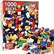 1000 Piece Childrens Kids Building Blocks Bricks Shapes Construction Toy Set