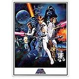 Darth Vader firmó el cartel completo de Star Wars firmado por Darth Vader (Dave Prowse)
