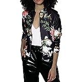EUDOLAH Chaqueta de Punto Chaqueta de Punto con Cremallera Streetwear Primavera otoño