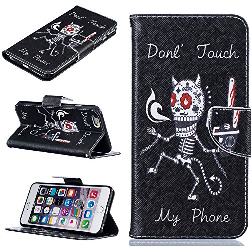 Ooboom® iPhone 5SE Hülle Flip PU Leder Schutzhülle Handy Tasche Case Cover Wallet Brieftasche Standfunktion für iPhone 5SE - Knochen Knochen