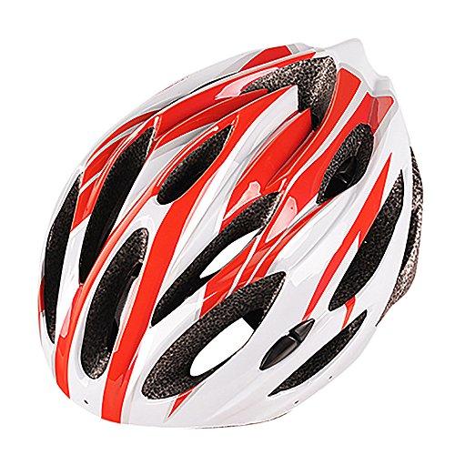 LEvifun Carbon Fahrradhelm Fahrrad Helme Schlittschuh Radsport Radfahren Helme Mountainbike Rennrad Fahrrad Leicht (Rot)