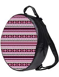 Snoogg Loud Aztec Pink And Black Bookbag Rounded Backpack Boys Girls Junior School Bag PE Shoulder Bag Lunch Kids...