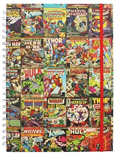 Marvel Retro Comic Book A4 Notebook Note Book with Iron Man Hulk Captain America XMEN Silver Surfer and MORE!
