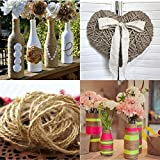 100M Natural Jute Yarn Rustic String Rope Twine Cord, DIY Supplies Drawstring Decoration Antique Craft Wedding Gift Tags Wrap Making Decor Ornament 2MM