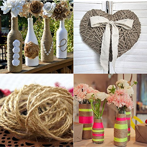 Wedding craft supplies amazon 10m natural jute yarn rustic string rope twine cord diy supplies drawstring decoration antique craft wedding gift tags wrap making decor ornament 2mm junglespirit Images