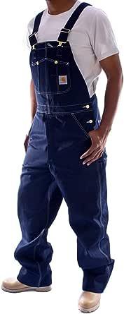 Carhartt Men's Washed-Denim Unlined Bib Overalls R07 W34L32