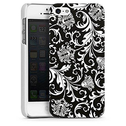 Apple iPhone 5 Housse Étui Silicone Coque Protection Ornements Mandala Motif CasDur blanc