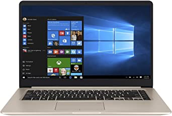 ASUS VivoBook S15 S510UA (90NB0FQ1-M08550) 39,6 cm (15.6 Zoll, Full-HD, Matt) Laptop (Intel Core i5-8250U, 8GB RAM, 256GB SSD + 1TB, Intel UHD Graphics, Windows 10) Gold Metall