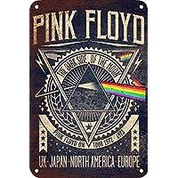 Pink Floyd Póster de Pared Metal Creativo Placa Decorativa Cartel de Chapa Placas Vintage Decoración Pared Arte para Carretera Bar Café Tienda