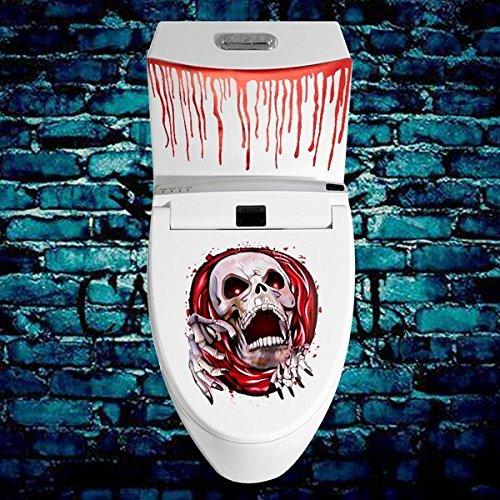 Bazaar Blut Bespritzt WC-Sitz Aufkleber Zombie Halloween Horror Party Dekoration