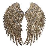 Likecrazy Damen Schmetterling Flügel Weiche Schal Damen Schmetterling Flügel Umhang Schal Poncho Kostüm Applique große Herz Augen Stoff Bühnenkostüm Zubehör (Gold,one size)