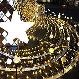ZHIYI Luce per Rete da Pesca A LED, Materiale di Alta qualità, Impermeabile E Sicuro, Una varietà di modalità tra Cui Scegliere, Luci per Rete Interna Ed Esterna per Feste Natalizie 6 * 4m Warm White