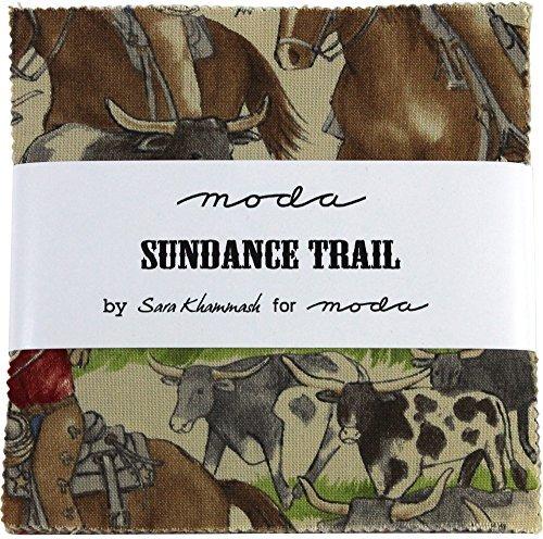 Sundance Trail Charm Pack By Sara Khammash; 42 - 5 Precut Fabric Quilt Squares by moda
