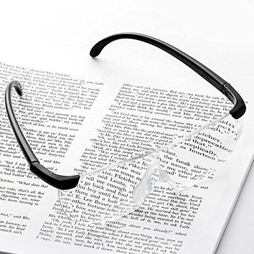 Vergrößerung, ideal für alle sorgfältigen Arbeiten und zum Lesen kleinster Buchstaben. ()