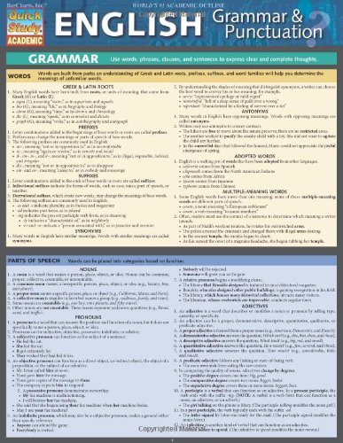 English Grammar & Punctuation (Quick Study Academic)