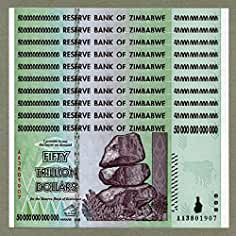 Zimbabwe 1 Billion Dollars Uncirculated Banknote UNC,Trillion Ser P83 AA//2008