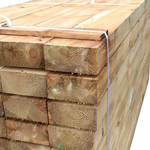 Price comparison product image Suregreen Tanalised Treated Softwood Timber Railway Sleeper 200x100MM Thick,  2.4m