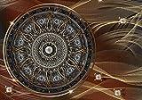 FORWALL VLIESFOTOTAPETE Fototapete Tapete Wandbild Vlies   Welt-der-Träume  Mandala   VEXXXL (416cm. x 254cm.)   Photo Wallpaper Mural 10126VEXXXL-AW   Mandala Indien Indisch Orient Orientalisch Gold