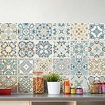 Ambiance-Live Azulejos de cemento adhesivos para paredde20x 20cm(24piezas)