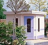 Lugarde Gartenhaus Marie aus Fichtenholz NEU fünfeckig mit Flachdach