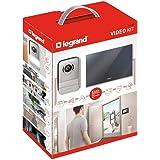 Legrand, Video-Türsprechanlage mit 2-Draht-Anschluss, 7 Zoll Hochglanz-Farbmonitor und Weitwinkelkamera, 1-/2-Familienhaus-Set, 369220
