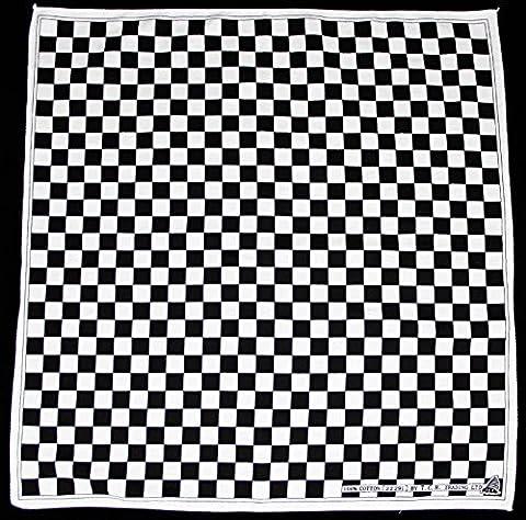 Flag checkered noir et blanc à carreaux bandana foulard bandana sport chapeau bandana de motard