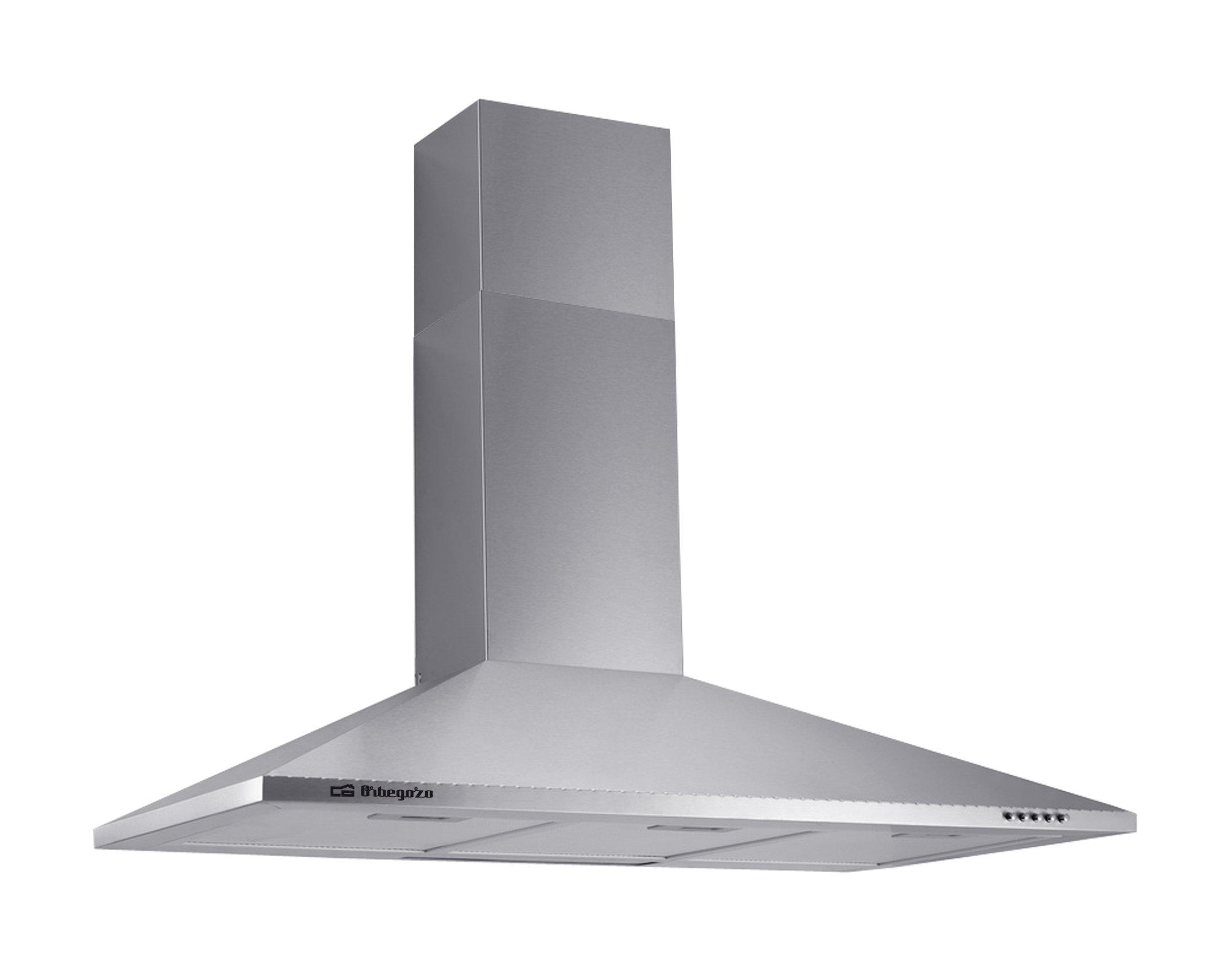 Orbegozo DS 59190 – Campana extractora decorativa, 3 niveles de potencia, luces LED, 3 filtros desmontables, mandos…