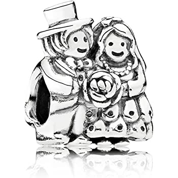 f2d1dad4c Pandora Women's 925 Sterling Silver Bride and Groom Charm: Pandora ...