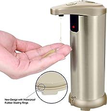 THZY Seifenspender Automatisch, Automatischer Seifenspender, Hohe Qualität Seifenspender Edelstahl Sensor 280ml, Infrarot Seifenspender mit Sensor für Küche und Bad