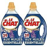 Le Chat Huile Essentielle Lavande Bleue - Lessive Liquide - Lot de 2 x 1,9L - 78 Lavages