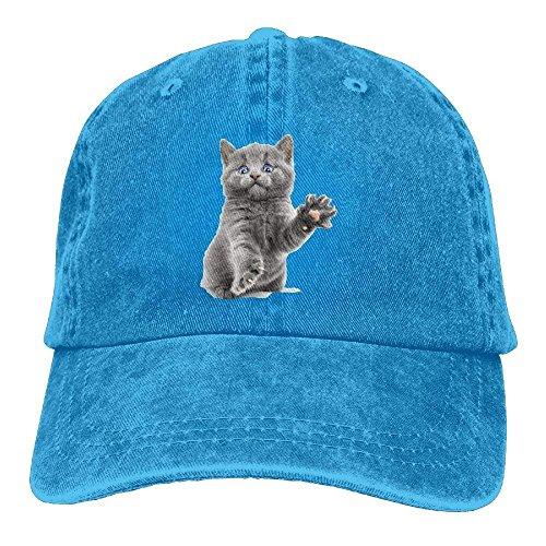 9b752313586 Aeykis Cat Unisex Flat Bill Hip Hop Cap Baseball Hat Head-Wear Cotton  Snapback Hats