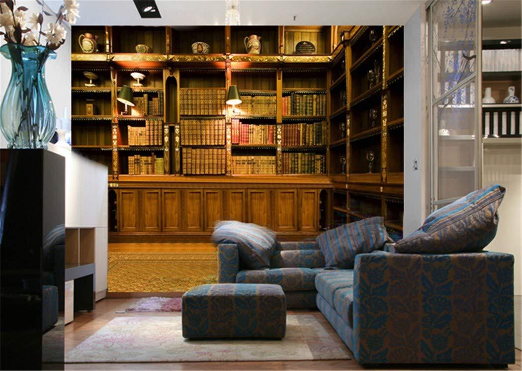 Carta Da Parati Per Sala.Carta Da Parati Personalizzata Foto Sfondo Europeo Classico Libreria