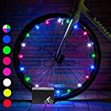 DMbaby Cool Top Toys for 6-15 Year Old Boys Girls, Water Resistant LED Bike Wheel Spoke Light Outdoor Cool Popular Gifts for 6-15 Year Old Boys Girls DMUKBL07