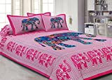 BERRY Jaipuri haathi Printed Cotton Pink...