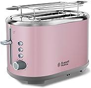 Russell Hobbs 25081-56 Bubble Ekmek Kızartma Makinesi, 2 dilim, Paslanmaz Çelik, Pembe