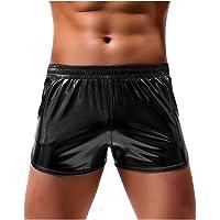 Arjen Kroos Men's Sexy Metallic Shiny Boxer Shorts Sparkly Rave Hot Short Pants with Pockets