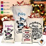 Stile vintage Christmas sacchi di Natale con Babbo Natale calza regalo in cotone, color_name, Small Design P01