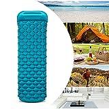 Wonyered Schlafsack Matte aufblasbares Camping-Matratze mit Kissen Leicht Compact Air Matratze für Wandern Reisen Strand Hängematte Zelt