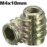 Alamor Tornillo Impulsor Del Maleficio De 5 Piezas M4X10mm En El Parte Movible Roscado Para El Tipo De Madera E