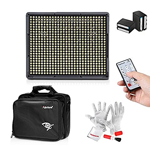 Emgreat® Aputure Amaran HR672KIT 672 Led Video Light Panel Studio Lighting Kit with 2.4G FSK Wireless Remote Control, Battery Pack and Pergear Clean Kit (HR672S)