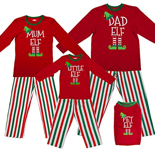 Red Elf Pyjamas Christmas Family PJs - Dad Elf Mum Elf   Little Elf ┃  Cheapest 》 123PriceCheck.com d3fee182d