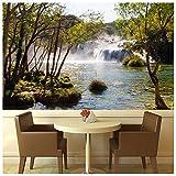 azutura Wasserfall & Bäume Fototapete See Kroatien Tapete Wohnzimmer Haus Dekor Erhältlich in 8 Größen XXX-Groß Digital