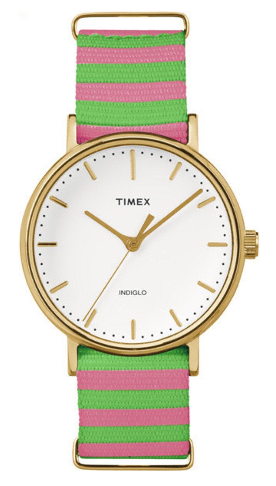 Timex Reloj Analogico para Mujer de Cuarzo con Correa en Tela TW2P91800
