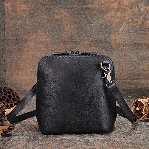 Nouvel original vintage fait main en cuir décontracté exquis diagonale de l'épaule les coquilles en vrac Gray